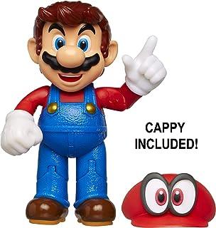 """Nintendo Super Mario Odyssey Mario 4"""" Articulated Figure with Cappy"""