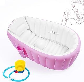 Iyom Aufblasbares Dampfbad Neugeborenes Baby Aufblasbare Badewanne Babybadewanne kann sitzen und verdickt gro/ße Kinder Reisen,Rosa