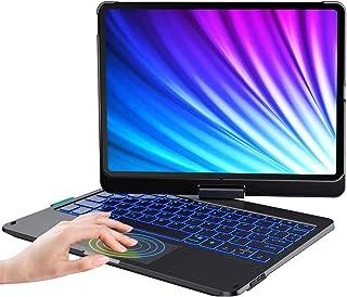 ipad Pro11 2021キーボード iPad air4キーボードケース タッチパッド付き ipad 10.9/11インチ対応 第1世代/第2世代/第3世代「Apple Pencil 2ワイヤレス充電対応」7色バックライト付き 360度回転...