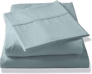 Brielle Tencel Sateen Sheet Set, King, Light Blue