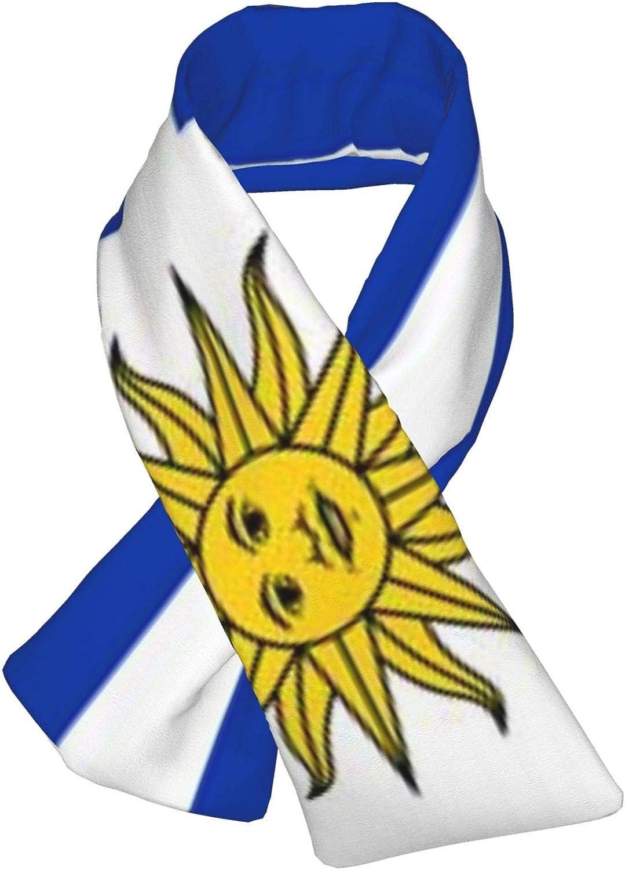 Winter Scarfs Uruguay Flag Scarves Wraps Neck Warmer Flannel Winter Cross Tie Scarves