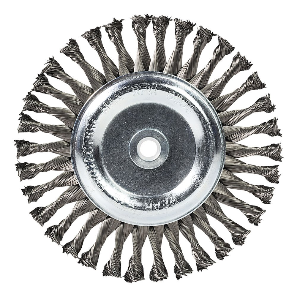 Mercer Industries 183010 Crimped Wire Wheel For Bench//Pedestal Grinders 6 x 3//4 x 2 1//2, 5//8