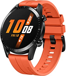 ساعة ذكية بخاصية قياس نسبة الاكسجين في الدم SpO2 ونظام تحديد المواقع من هواوي GT 2 - الاصدار الرياضي، 46 ملم - برتقالي