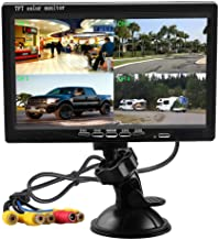 "Surveillance Recorder 7"" Split Screen Quad Monitor 4Ch Video Input Pc Audio Windshield Style Parking Dashboard Car Rear Vi..."