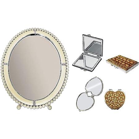 RAAYA Decorative Pearl Mirror for Wall, Living Room, Bathroom, Bedroom, Decoration