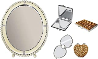 BAAL Combo Of Beautiful And Stylish Mirrors For Girls For Home And Travelling Use 20 Grams Set Of 3 Pack Of 1