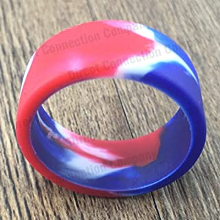 Tank Bands 21mm Silicone Tank Band Ring Bumper 21 COLORS AVAILABLE (4-PACK (RED/WHITE/BLUE))