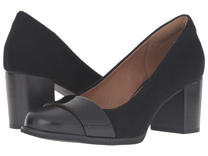 60s Shoes, Boots | 70s Shoes, Platforms, Boots Clarks Tarah Brae Black Combination Womens  Shoes $129.95 AT vintagedancer.com
