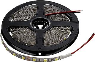 LEDテープライト 12V 非防水 3チップ 5メール 両端子 (電球色/白ベース)