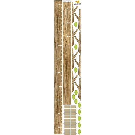 身長計 ウォールステッカー 「木の身長計 ベージュ 」おしゃれ 人気 木 木目 子供 シンプル シール