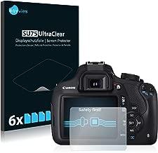 savvies Protector Pantalla Compatible con Canon EOS 1200D (6 Unidades) Pelicula Ultra Transparente