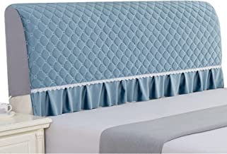 Headboard Covers for Cute Single/Double Bed Headboard Slipcover Stretch Furniture Protective Dustproof Cover (Color : Blu...