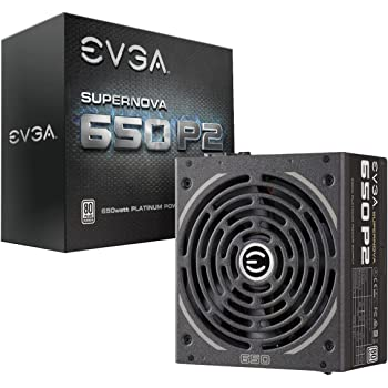 EVGA 220-P2-0650-X1 SuperNOVA 650 P2, 80+ PLATINUM 650W , Fully Modular , EVGA ECO Mode, 10 Year Warranty , Includes FREE Power On Self Tester, Power Supply ,Black