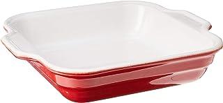 """Emile Henry 9"""" Square Baking Dish, Cerise, 2.1-Qt,332006"""