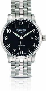 Bruno Söhnle - 17-12104-722MB - Reloj analógico automático para Hombre con Correa de Acero Inoxidable, Color Plateado