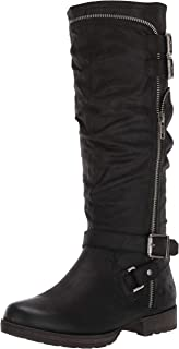Fergalicious Women's Hazard Knee High Boot, Black, 5