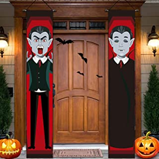 comprar comparacion Sayala Decoraciones para Puertas de Halloween,3Piezas Trick Or Treat Banner De Porche para Exteriores &Interior Decoracion...