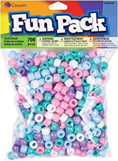 Cousin Pastel Color Mix Pony Bead Fun Pack