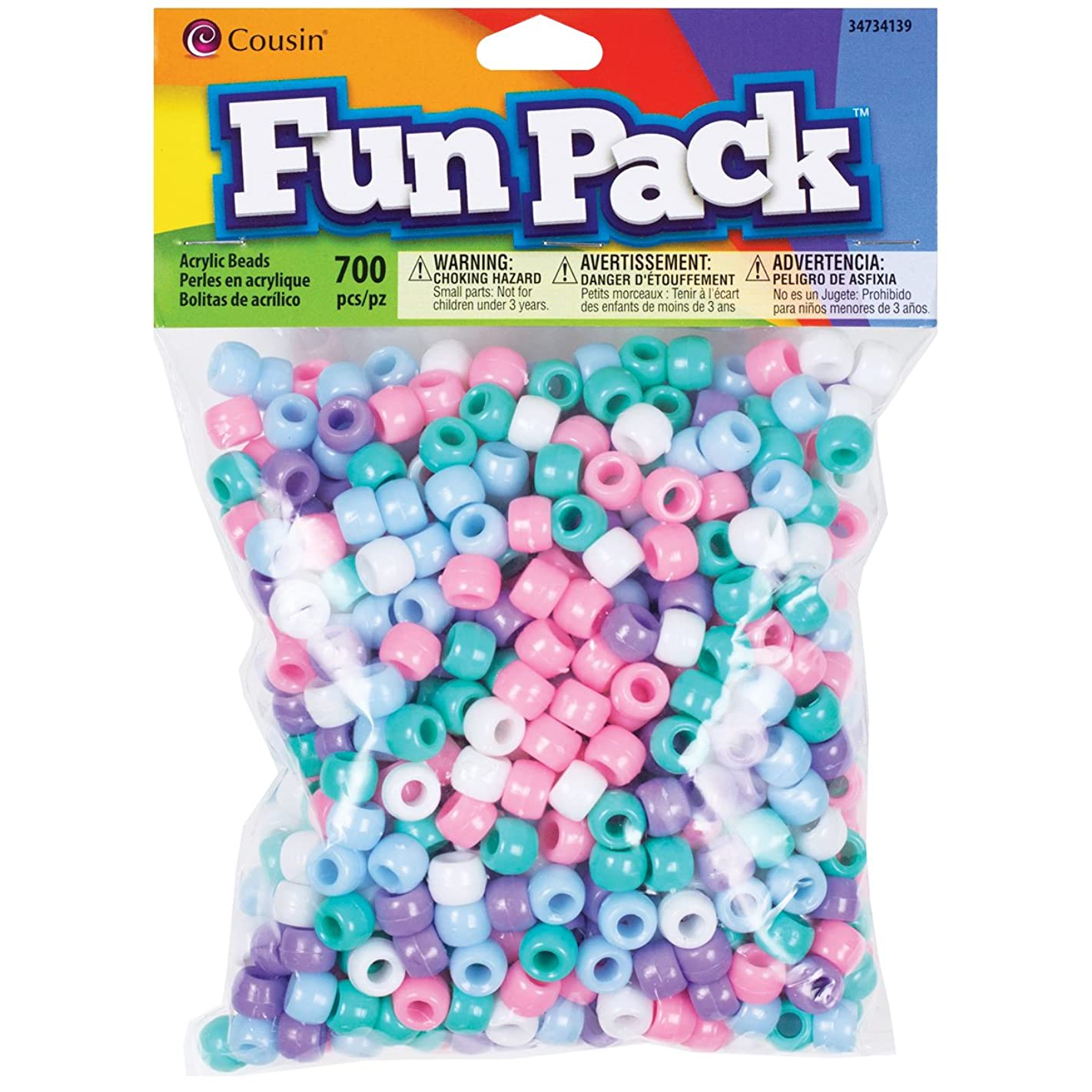 Cousin Fun Packs 700-Piece Pastel Pony Beads