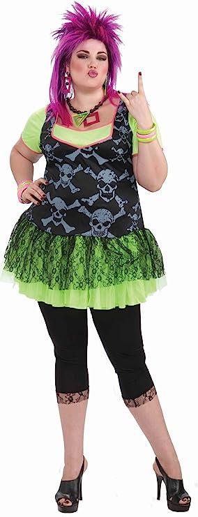 80s Costumes, 80s Clothing Ideas- Girls Forum Novelties Womens 80s Punk Lady Plus Size Costume  AT vintagedancer.com
