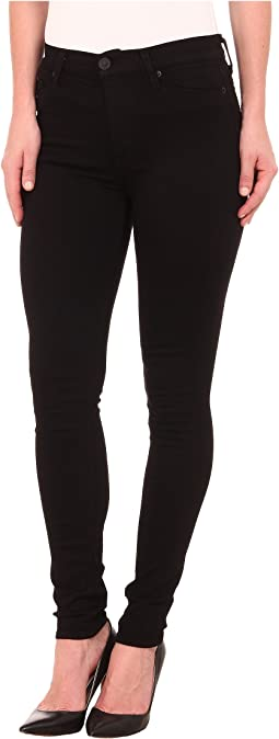 Barbara High Rise Skinny Jeans in Black