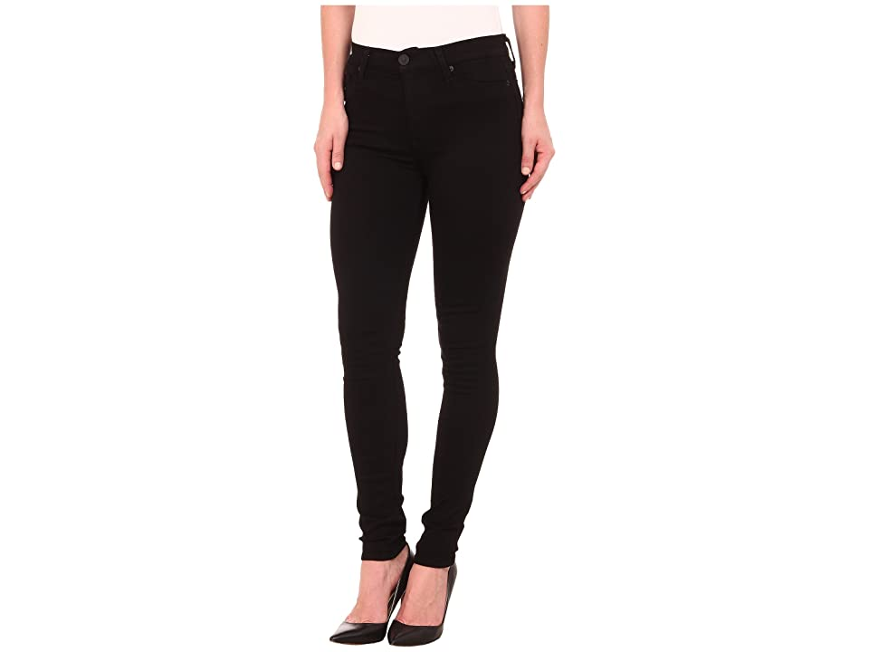 Hudson Jeans Barbara High Rise Skinny Jeans in Black (Black) Women's Jeans