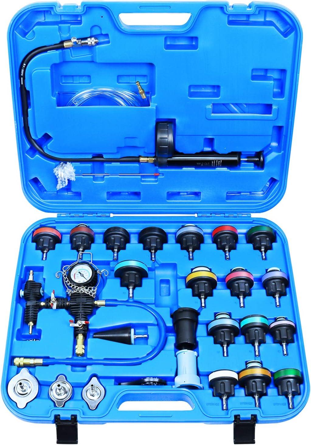 2021 new YSTOOL Radiator Pressure Tester Coolant Super sale 28PCS Refill Vacuum Kit