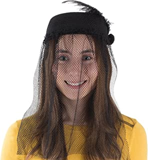 Pillbox Hat - Funeral Hats for Women - Hat with Veil - Widow Hat with Veil - Vintage Hats for Women