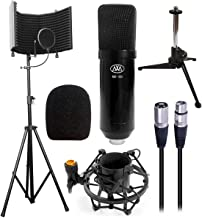 AxcessAbles SF-101KIT Studio Microphone Isolation Shield w/Stand, Condenser Mic & accessories. Compatible w/Focusrite or P...