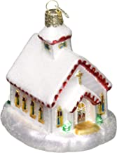 Old World Christmas Glass Blown Ornament Country Church (20095)