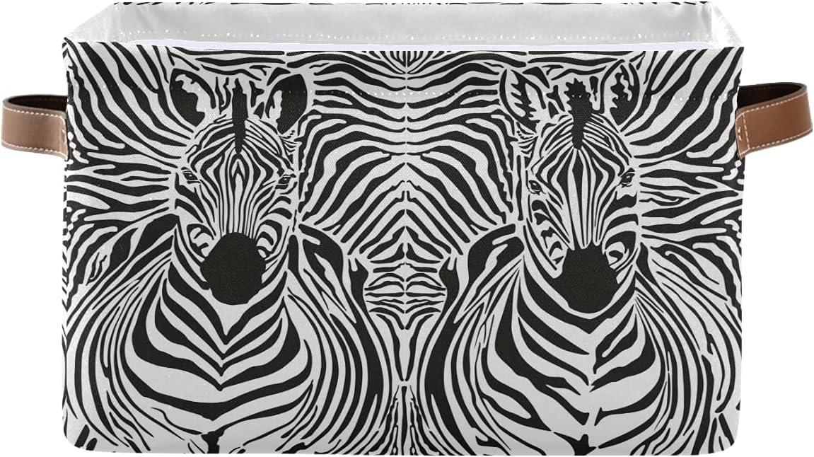 ECHOLI Abstract Zebra Couple Print Handle Colla Storage Inexpensive with Bin Max 74% OFF