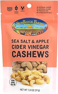 SunRidge Farms EnergyGo – Sea Salt & Apple Cider Vinegar Cashews NonGMO Verified, 1.8 Ounce Bag (Pack of 8)