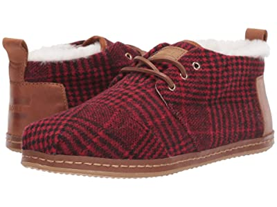 TOMS Bota (Red Abstract Plaid/Faux Shearling) Women