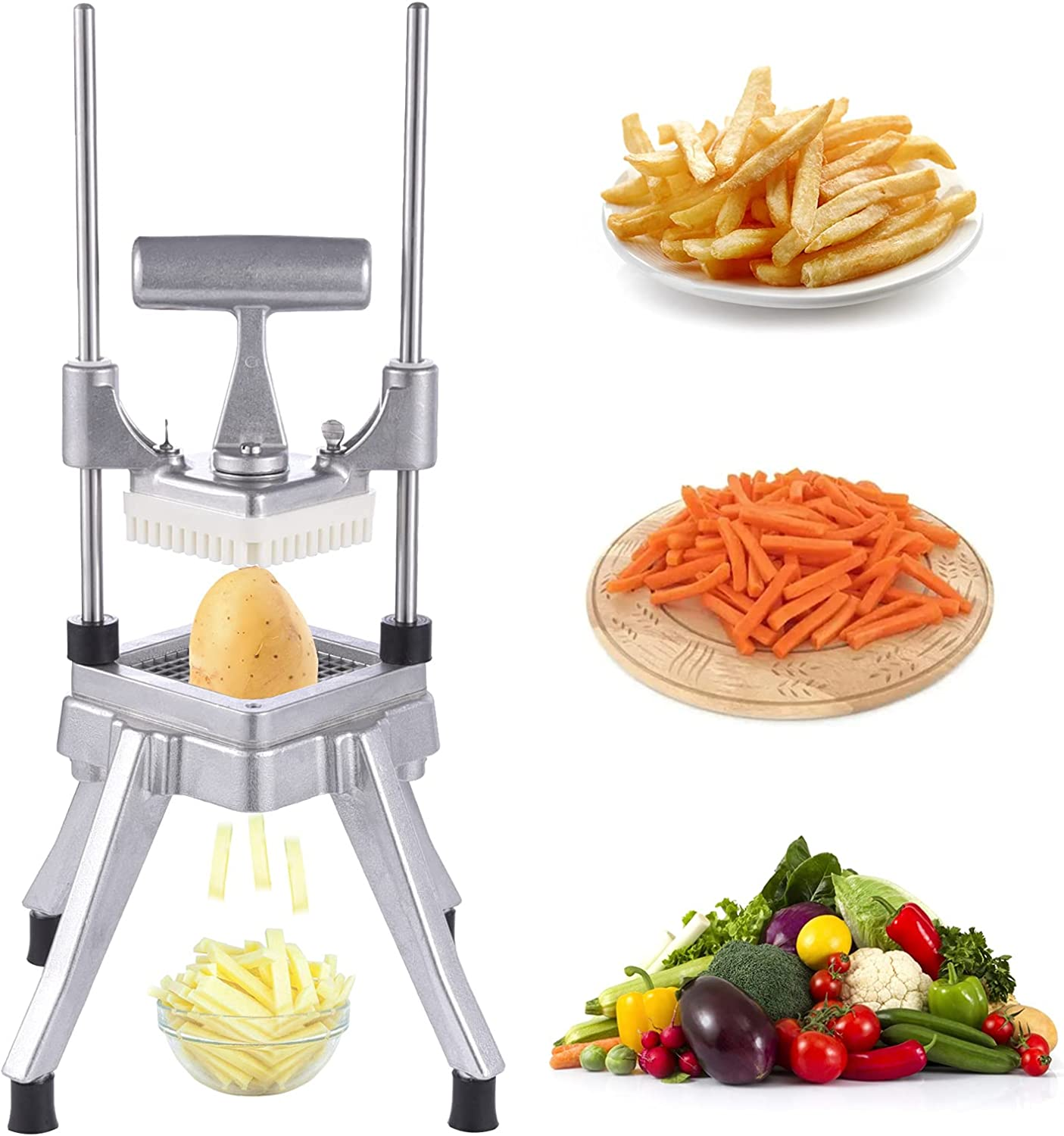 CreatMe Commercial Ranking TOP8 Vegetable Dicer Stainless Slicer Steel Quick OFFicial mail order