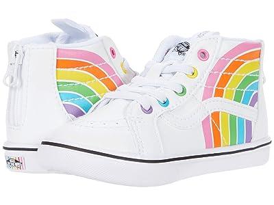 Vans Kids ComfyCush SK8-Hi Zip (Infant/Toddler) ((Flour Shop) Rainbow/True White) Kid