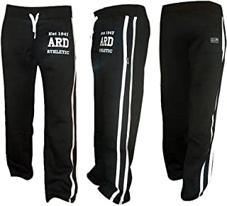 ARD-Champs Men's Fleece Joggers Bottom Jogging Exercise Fitness Gym Sweat Cotton Trousers