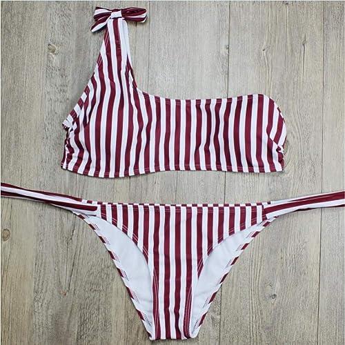 CHENG Bikini Maillot De Bain Une épaule Maillot De Bain Deux Pièces Femme Maillots De Bain Femme Bikini Set Maillot De Bain Maillot De Bain