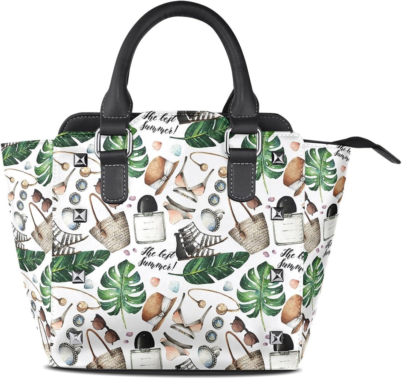 My Little Nest Women's Top Handle Satchel Handbag Watercolor Trendy Accessories Ladies PU Leather Shoulder Bag Crossbody Bag