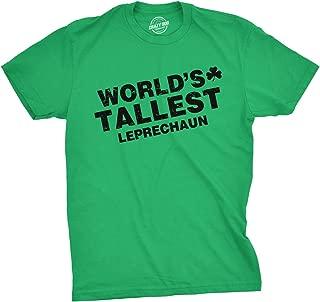 Crazy Dog T-Shirts Worlds Tallest Leprechaun Tshirt Funny Sarcastic Irish Drinking Tee