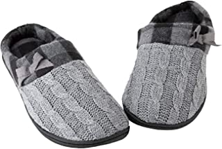 Toasties Women's Memory Foam Slippers Heather Grey