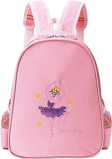 BAOHULU Toddler Backpack Ballet Dance Bag 9 Colors for Girls 2-8 Year (Pink)