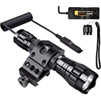 CVLIFE T6 LED Tactical Flashlight Remote Control Torch Light