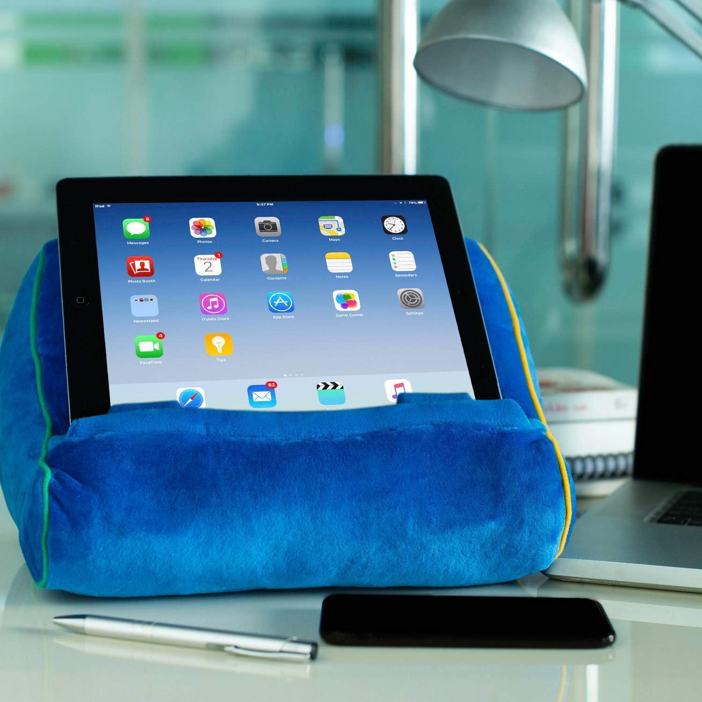 Soporte sof/á de Lectura coj/ín de Descanso Atril para Libros Idea de Regalo Tablet eReader iPad Modelo Azul