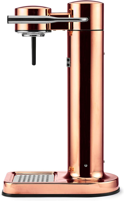 Aarke Carbonator II - Machine à eau pétillante, Acier Inox, Bouteille PET incluse, compatible avec les cartouches de CO2 60L, Polished Steel Copper