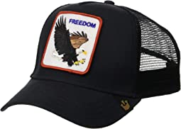 b5a6abc044a74 Black Freedom. 30. Goorin Brothers. Animal Farm Snap Back Trucker Hat