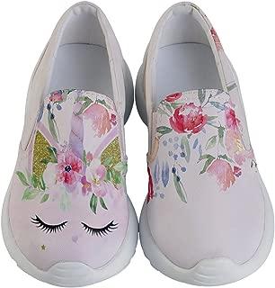 Child & Youth Slip Ons Joyful Animals & Lovely Unicorn Kids Lightweight Casual Shoes, Size:US8C - US7Y