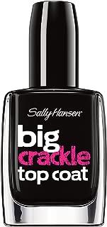 Sally Hansen Treatment Big Crackle Top Coat Nail Color, Black On, 0.4 Fluid Ounce