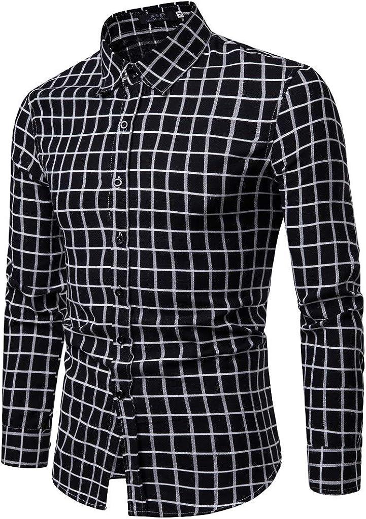 MODOQO Men's Button Down Casual Design Slim Fit Long Sleeve Dress Shirt