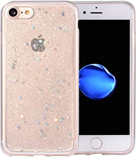BAISRKE Glitter Case for iPhone 7 iPhone 8, Luxury Bling Glitter Sparkle Clear Transparent Soft TPU Bumper Back Cover Case for iPhone 7 8 4.7 inch - Clear