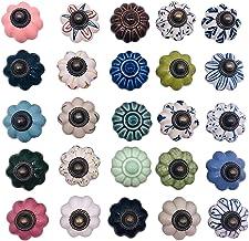 Deurslot handvat kast lade knop keramische retro shabby pompoen knop handvat keuken kast/dressoir/lade knop (kleur: groen)